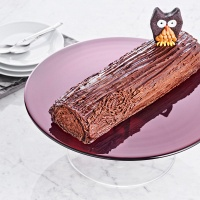 """Chocolate log"" with custard"